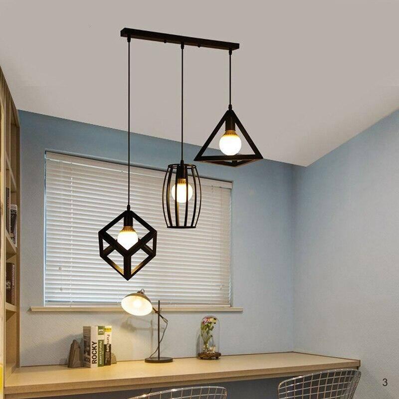 beautiful black color 3 heads pendant lights