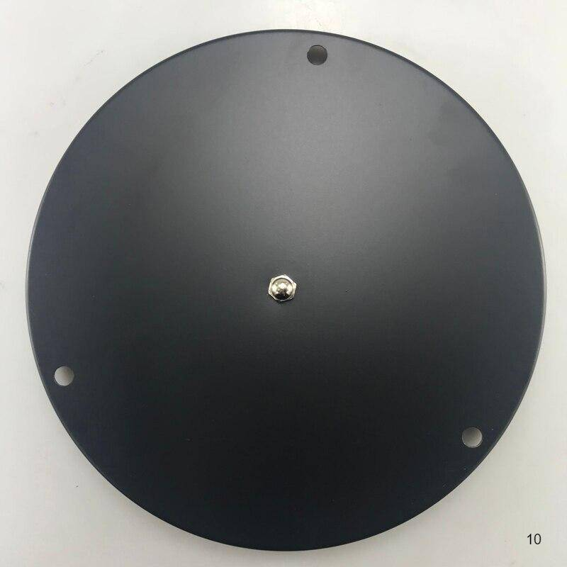3 heads black color round plate cover