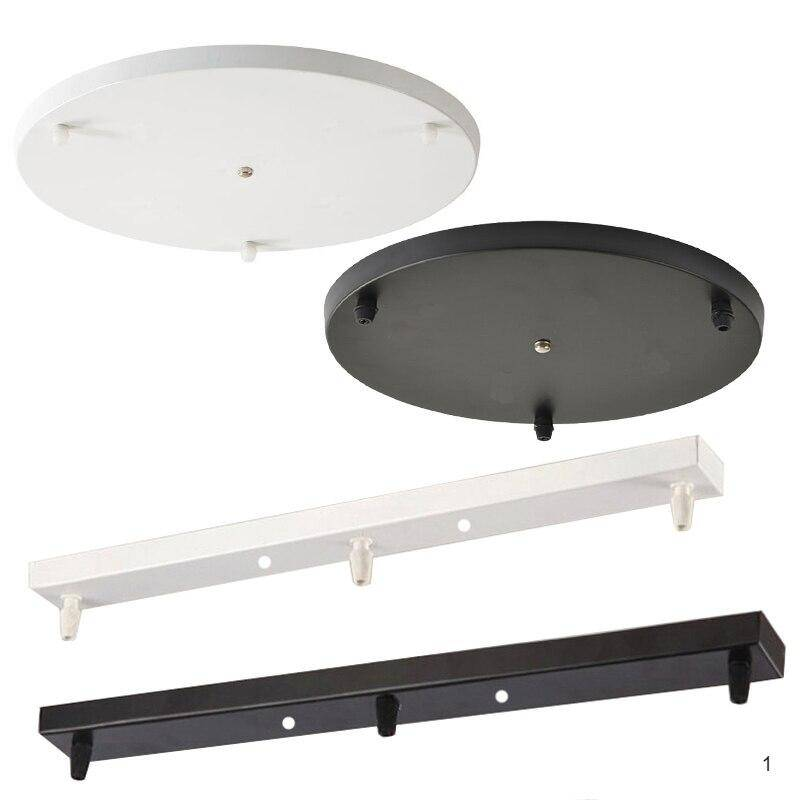 White or black, round or long plates for ceiling mount of the led pendant Lights