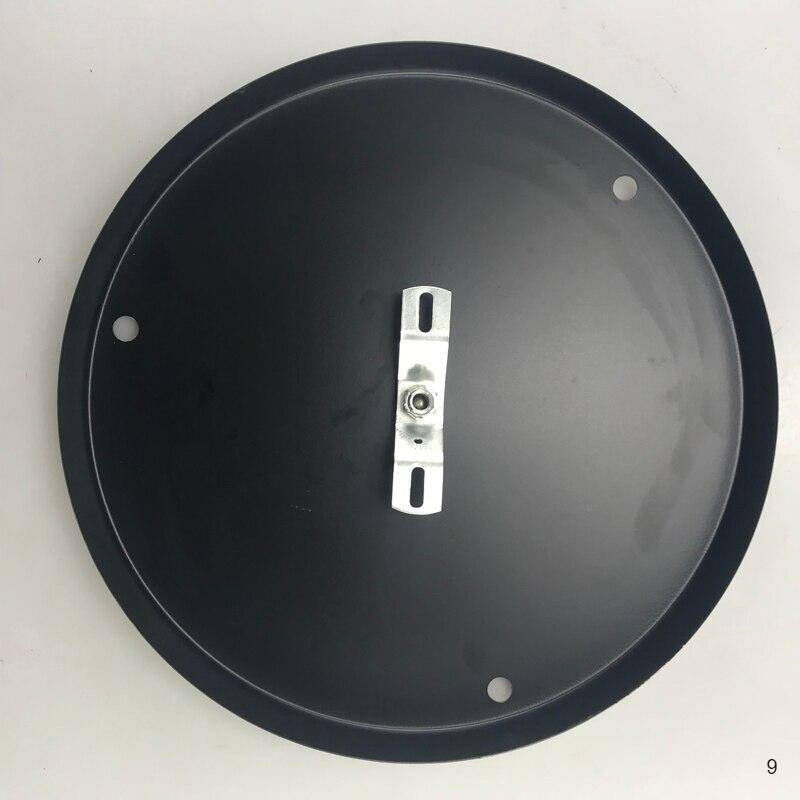 3 heads black color round plate
