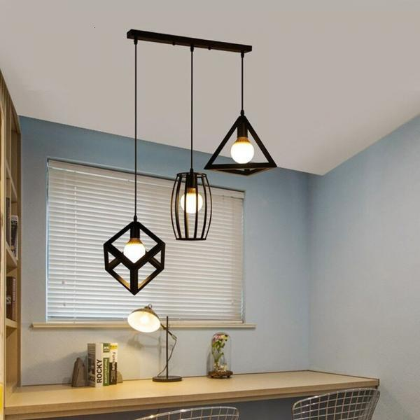 Multi pendant lights round or long ceiling plate LED hanging Lamps