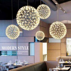 Spark ball LED light pendant firework ball stainless steel lighting fixture