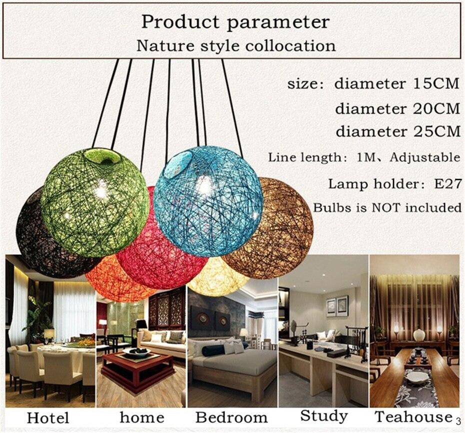 Varies sizes of choices for the spherical lantern pendant lamp