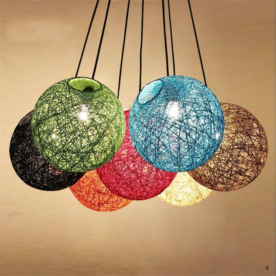 Beautiful and colorful design of lamps