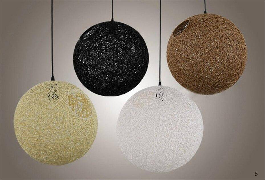 example colors of the retro E27 spherical lantern pendant Lamp