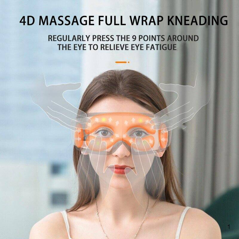 4D smart eye massager relieve fatigue remove dark circles with full wrap kneading